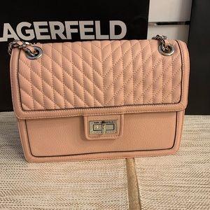 NWT Karl Lagerfeld Agyness Shoulder Bag Pink